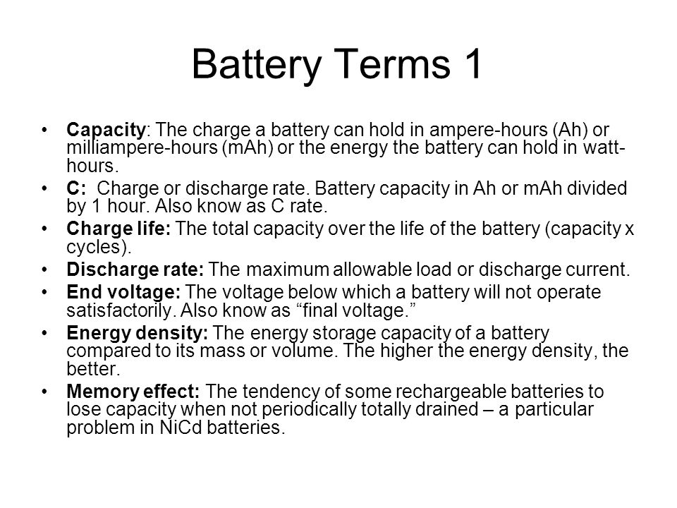 Battery Terms 1