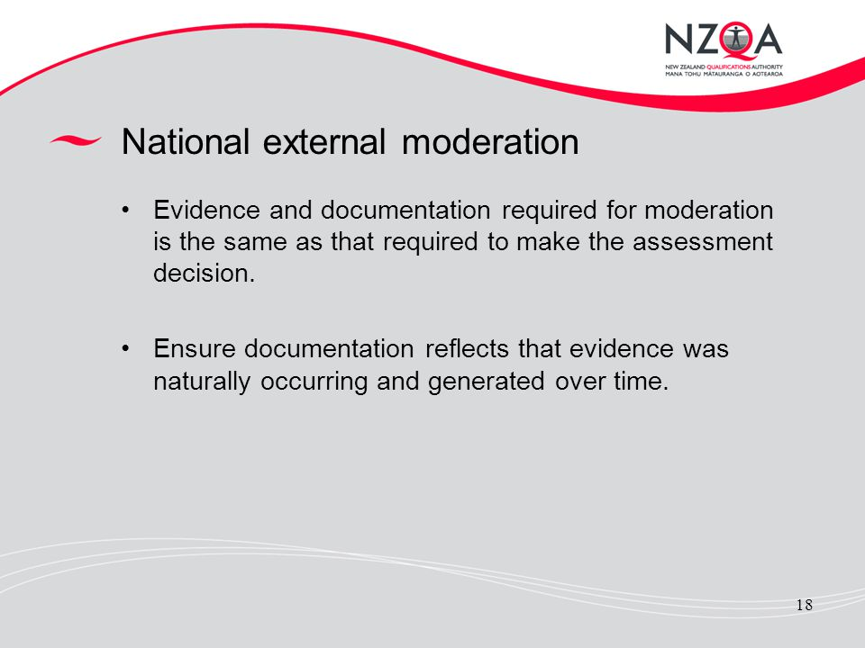 National external moderation