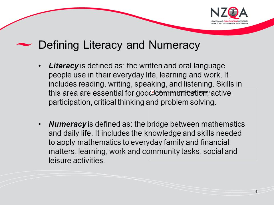 Defining Literacy and Numeracy
