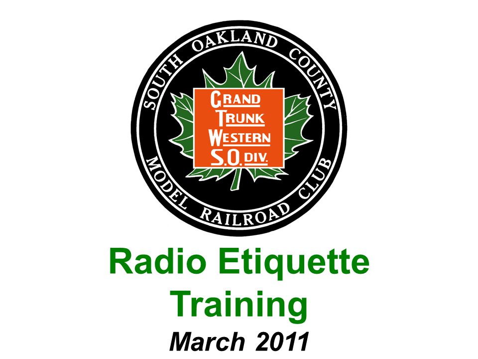 Radio Etiquette Training