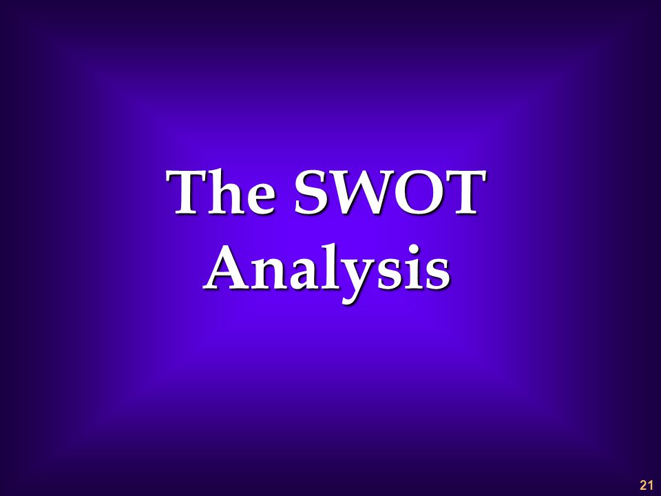 The SWOT Analysis 1