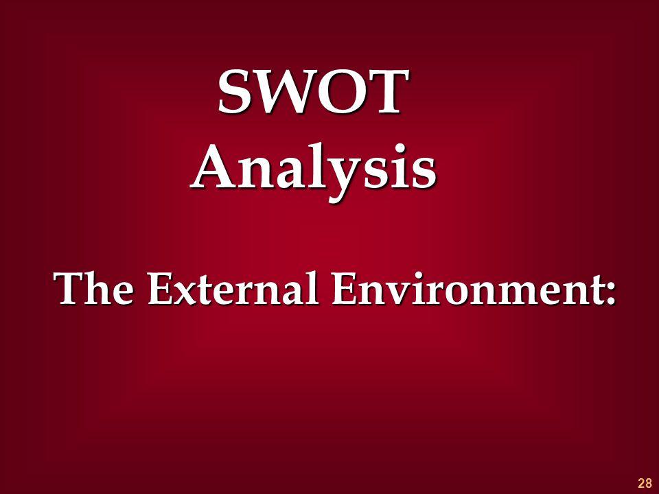 The External Environment: