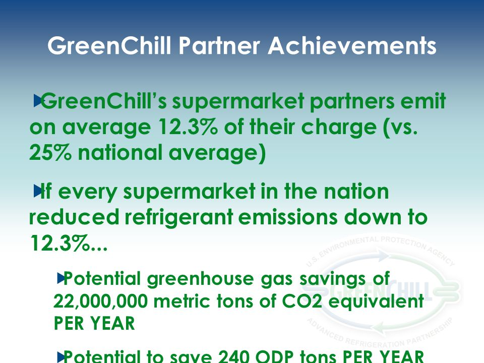 GreenChill Partner Achievements