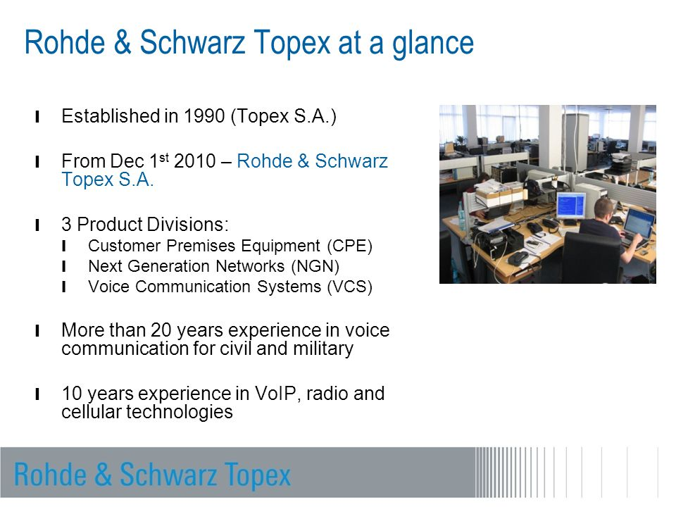 Rohde & Schwarz Topex at a glance