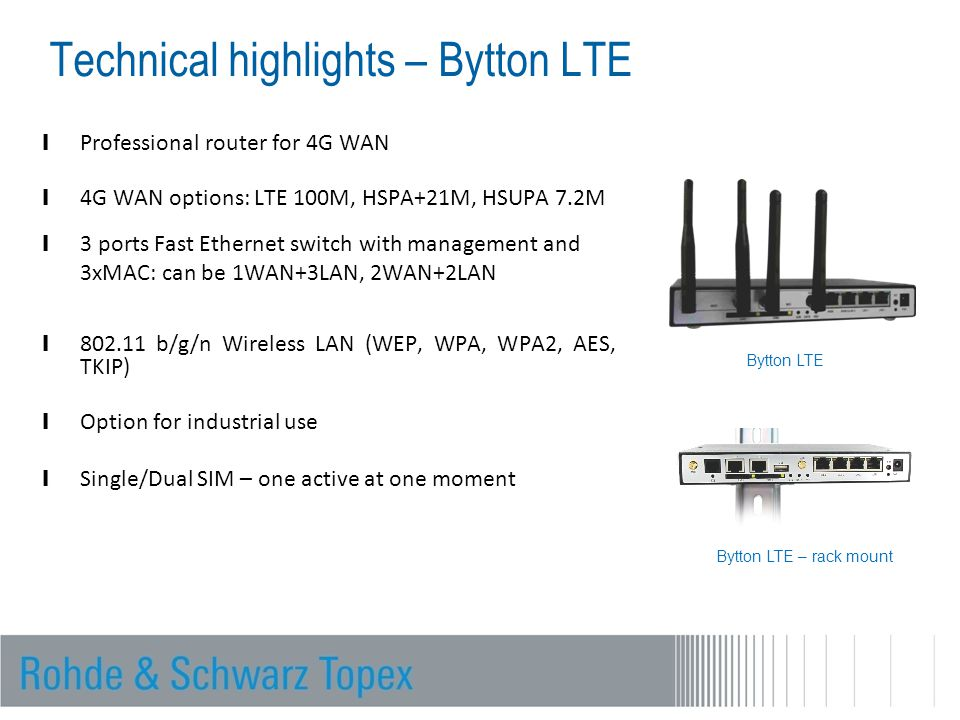 Technical highlights – Bytton LTE