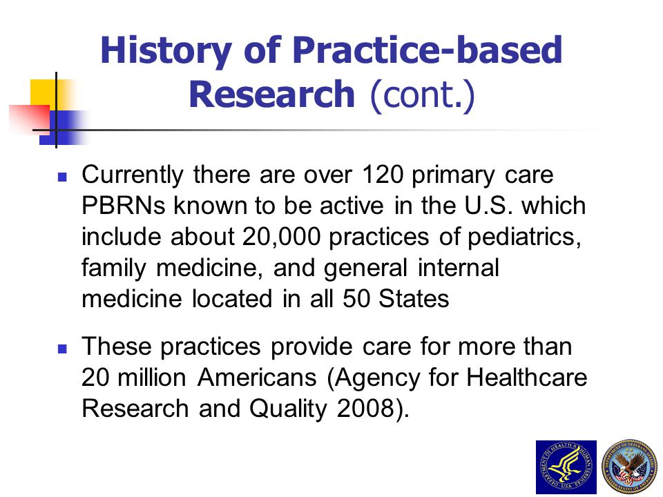 History of Practice-based
