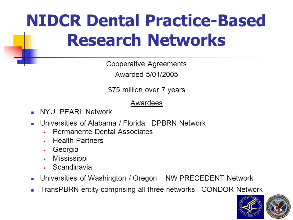 NIDCR Dental Practice-Based Research Networks