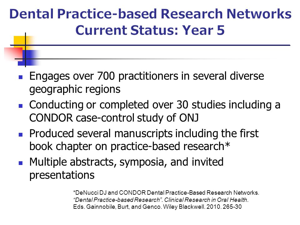 Dental Practice-based Research Networks