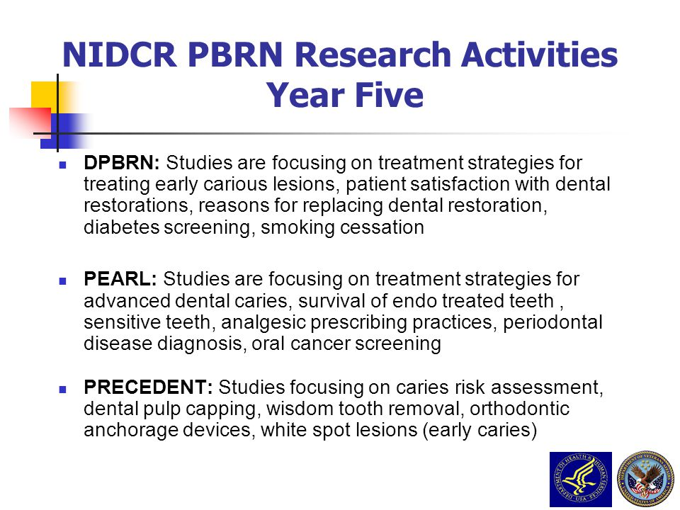 NIDCR PBRN Research Activities Year Five