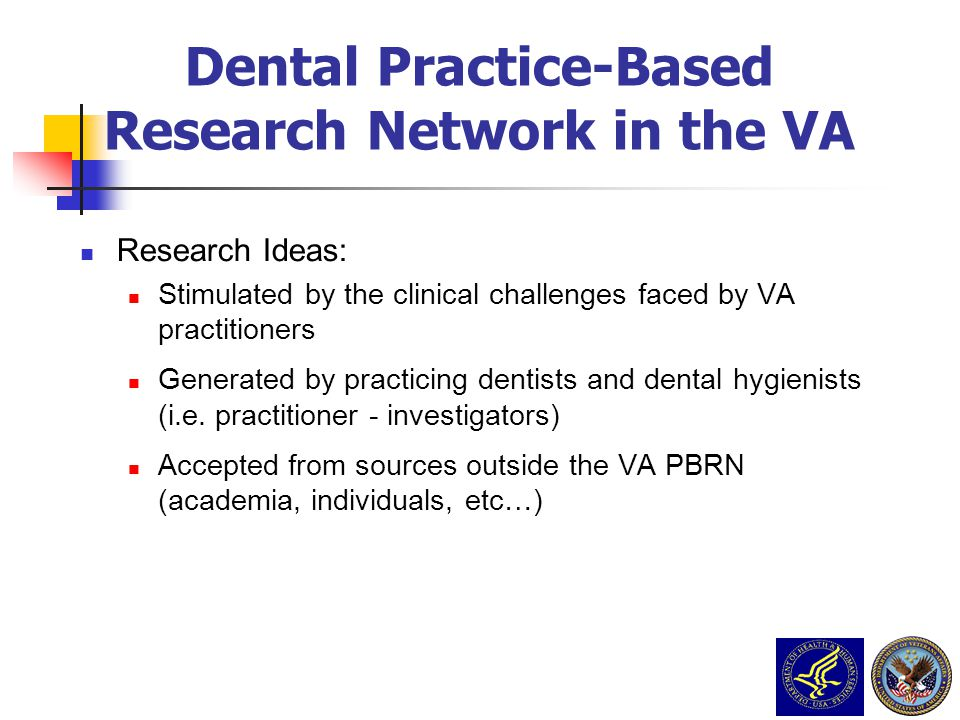Dental Practice-Based Research Network in the VA