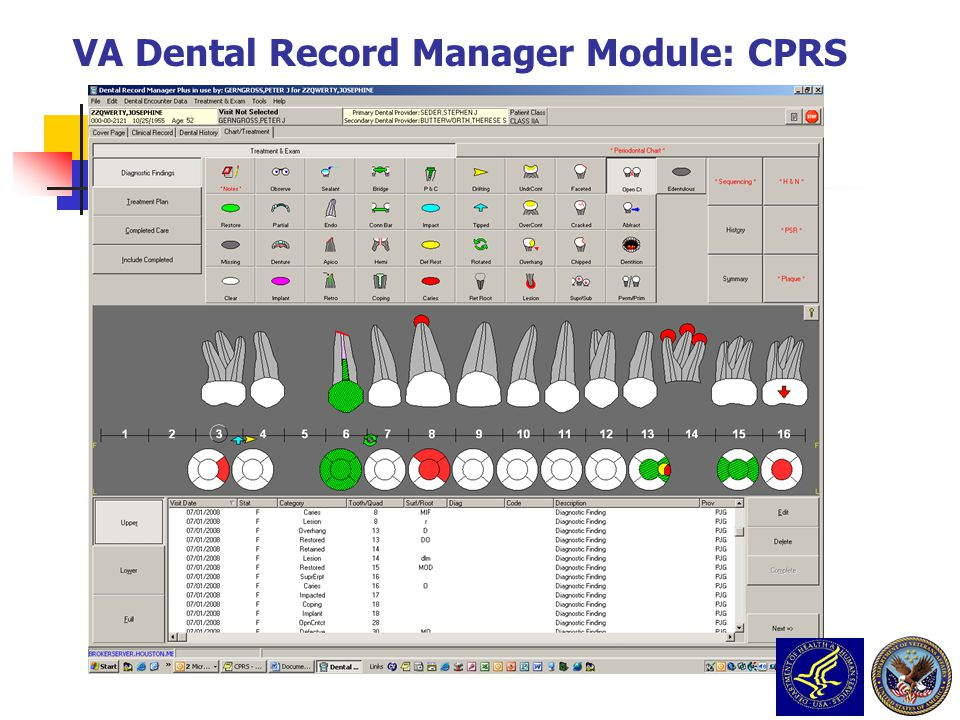 VA Dental Record Manager Module: CPRS