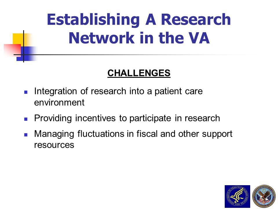 Establishing A Research Network in the VA