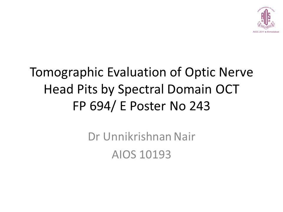 Dr Unnikrishnan Nair AIOS 10193