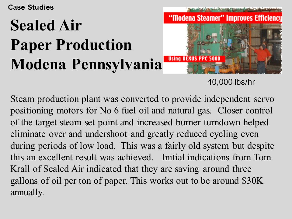 Sealed Air Paper Production Modena Pennsylvania