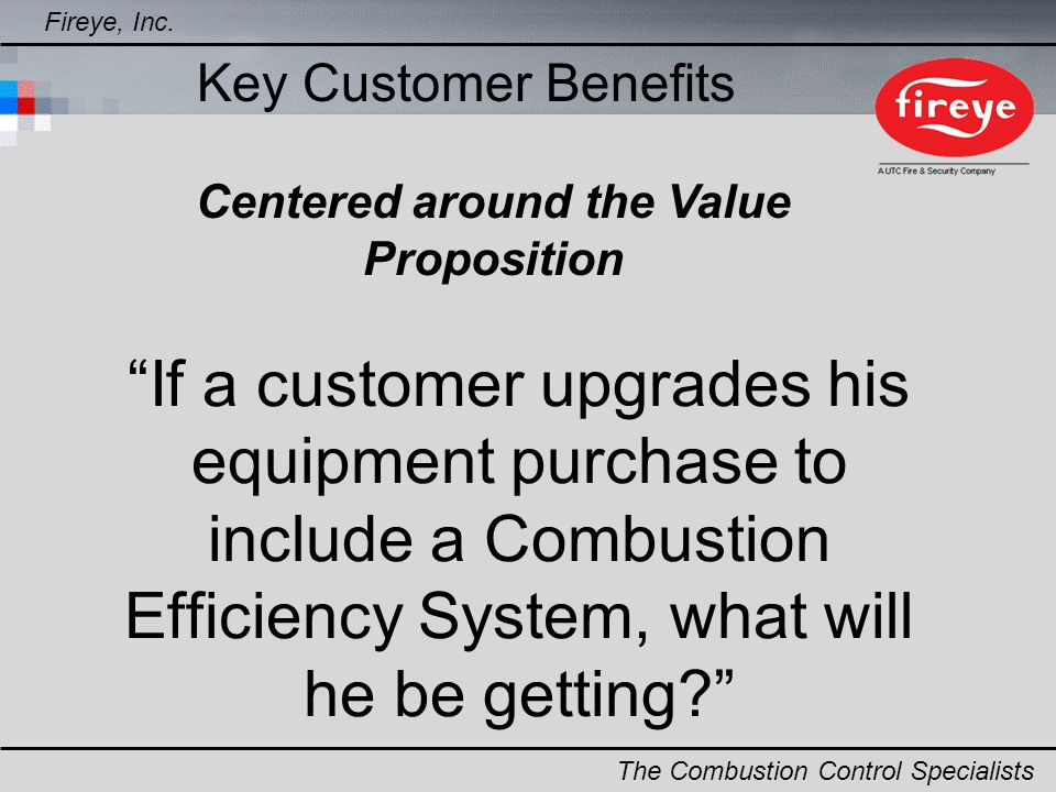 Centered around the Value Proposition