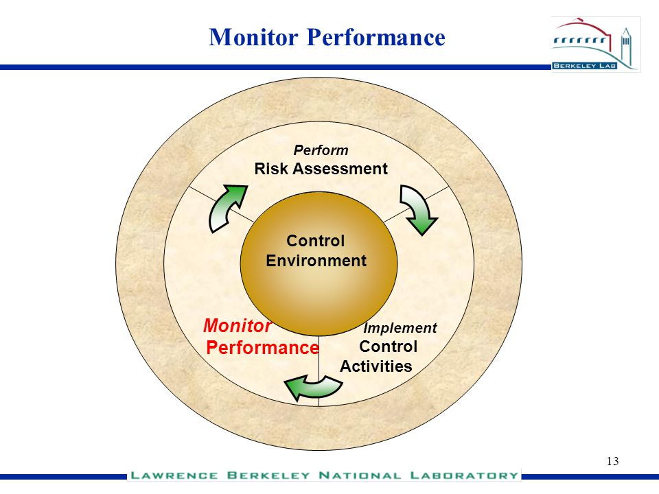 Monitor Performance Performance Risk Assessment Control Environment