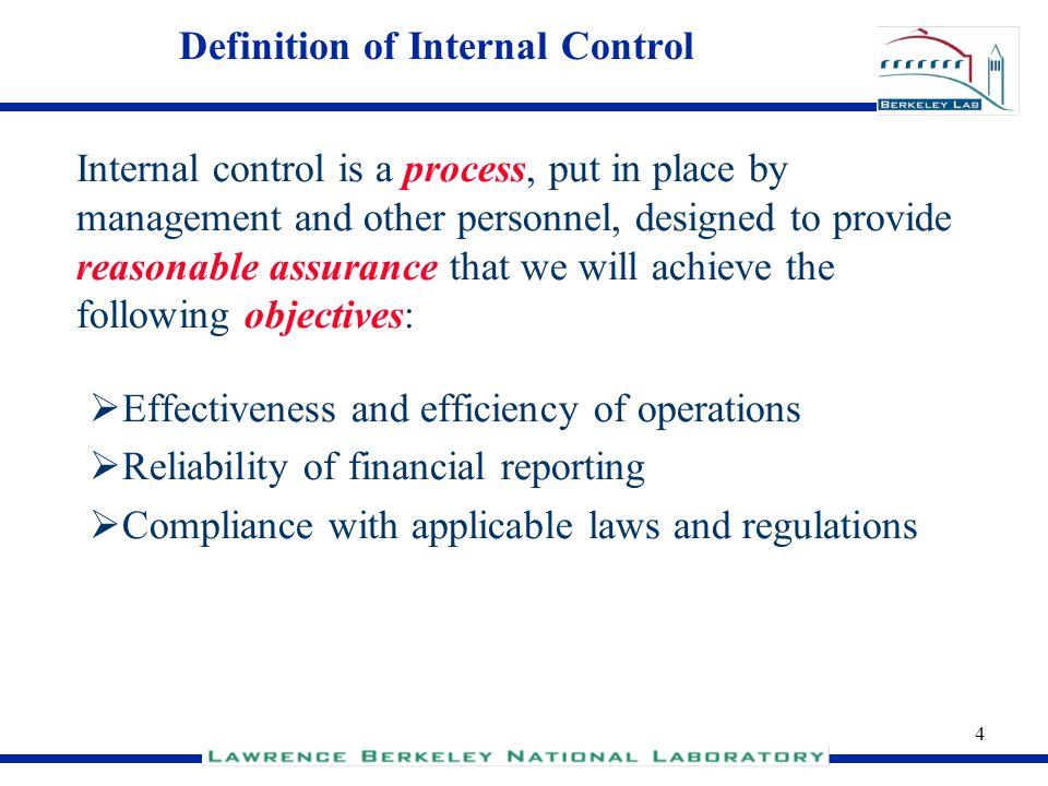 Definition of Internal Control