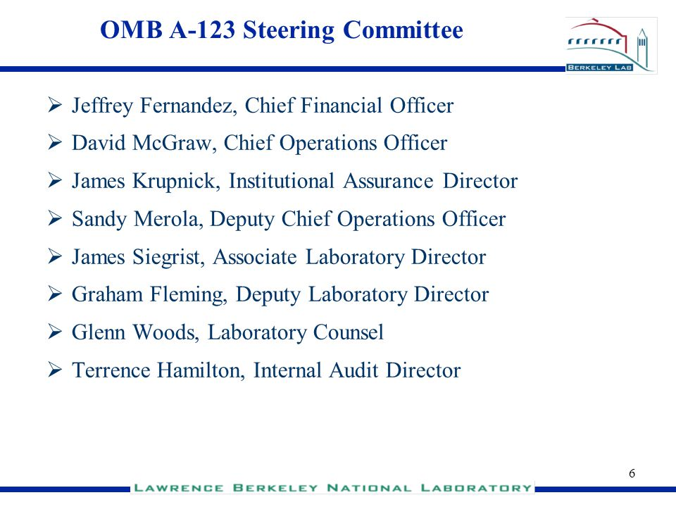 OMB A-123 Steering Committee