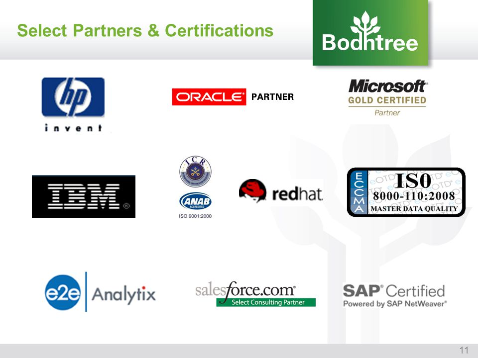 Select Partners & Certifications
