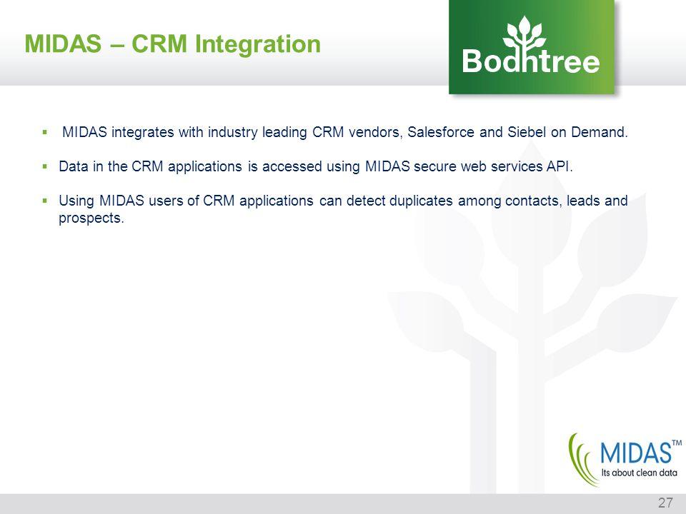 MIDAS – CRM Integration