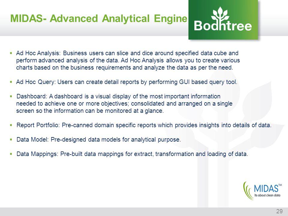 MIDAS- Advanced Analytical Engine