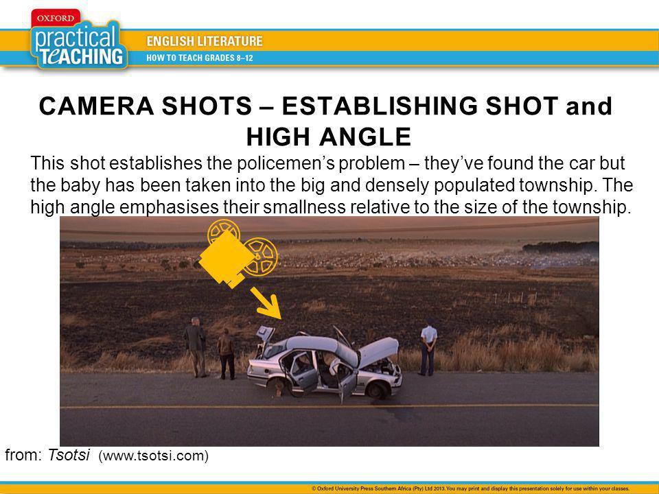 CAMERA SHOTS – ESTABLISHING SHOT and HIGH ANGLE