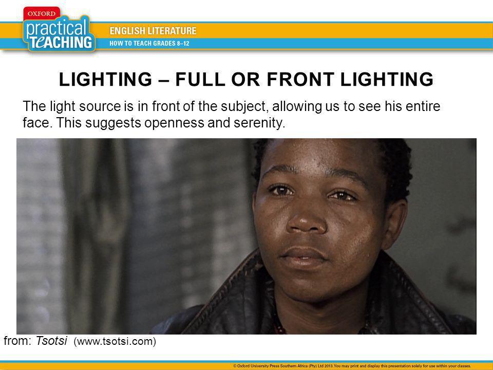 LIGHTING – FULL OR FRONT LIGHTING