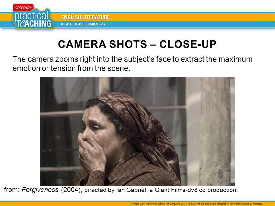 CAMERA SHOTS – CLOSE-UP