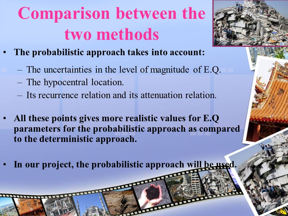 Comparison between the two methods