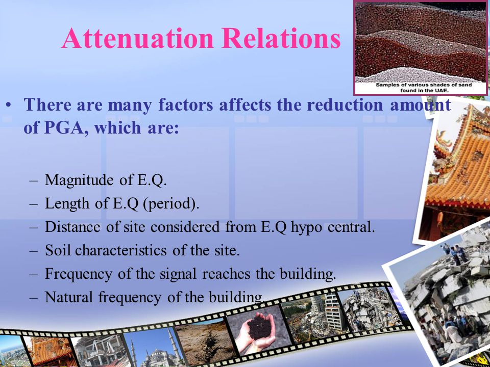 Attenuation Relations