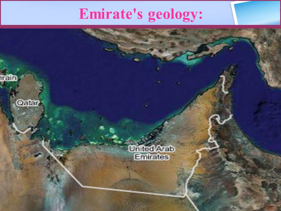 Emirate s geology: