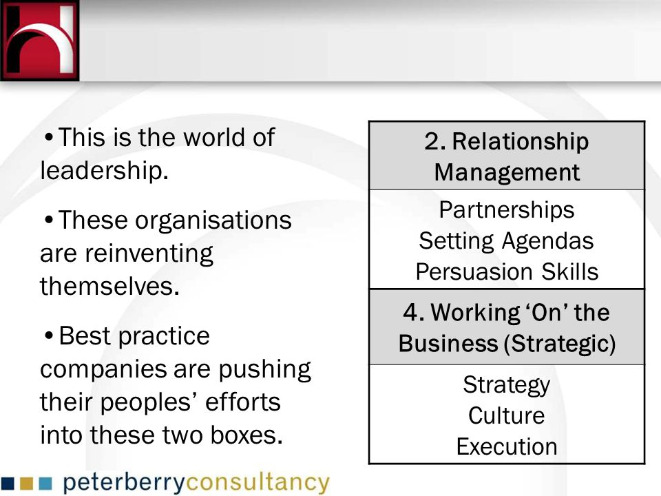 4. Working 'On' the Business (Strategic)