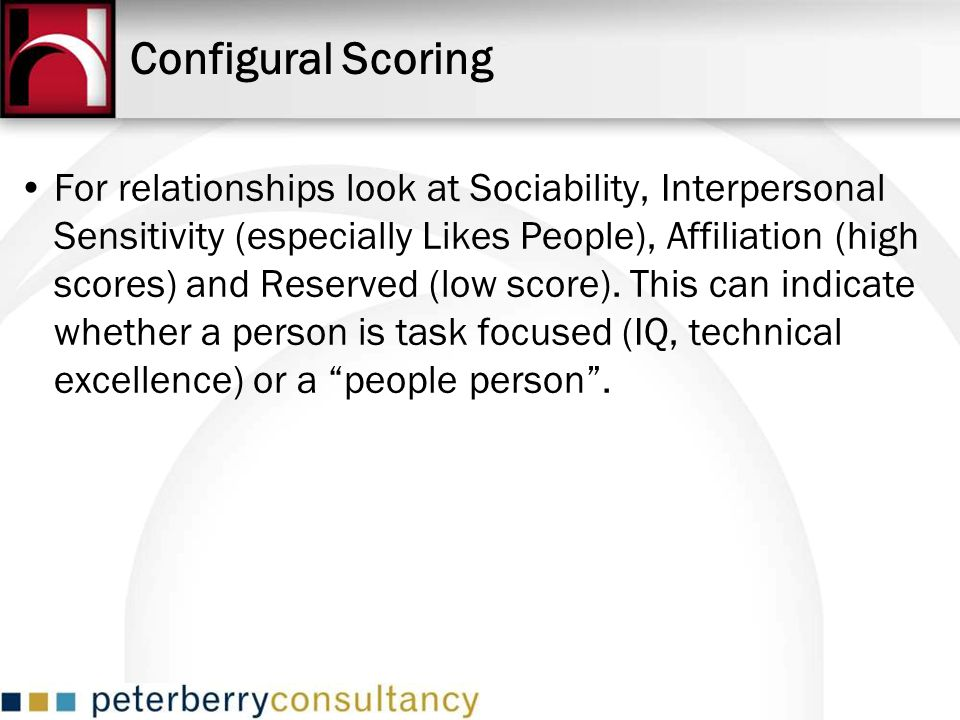 Configural Scoring