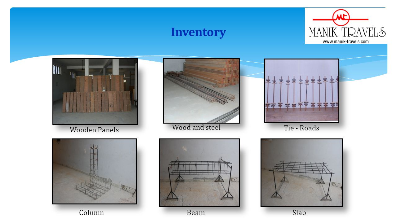 Inventory Wood and steel Tie - Roads Wooden Panels Column Beam Slab