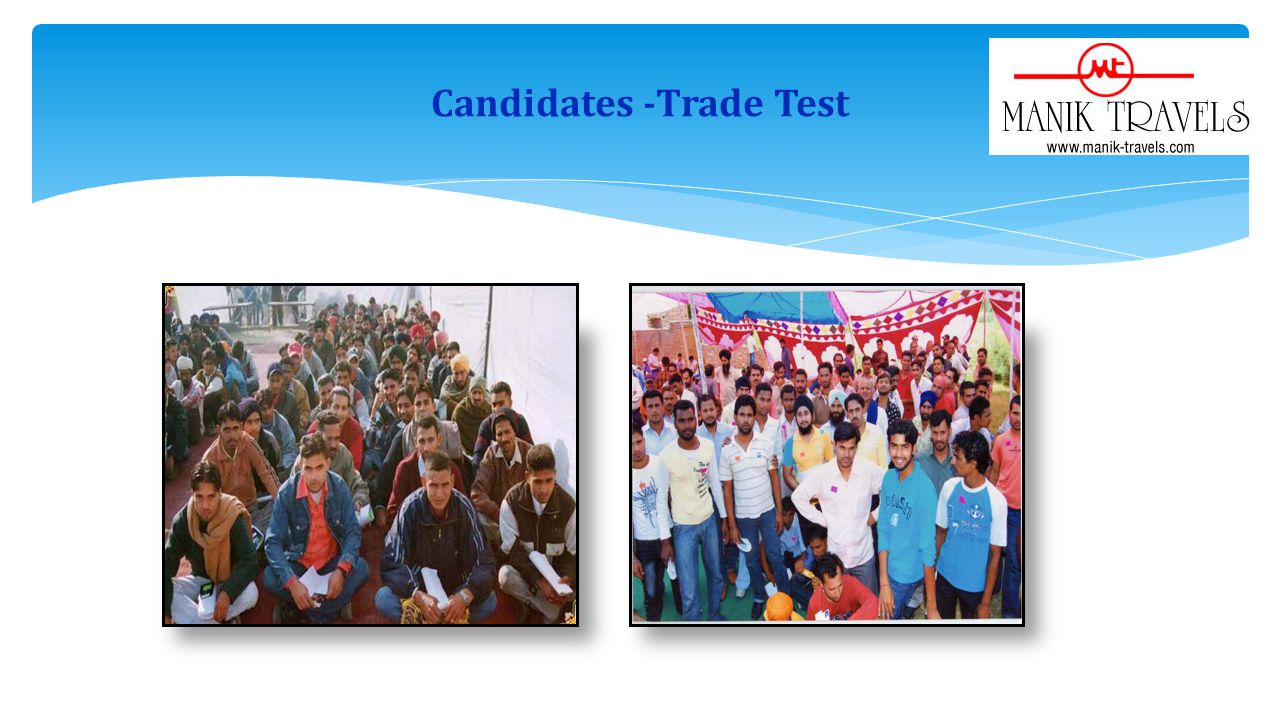 Candidates -Trade Test