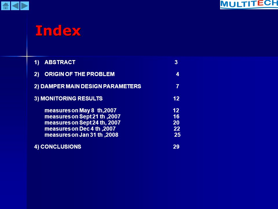 Index ABSTRACT 3 ORIGIN OF THE PROBLEM 4
