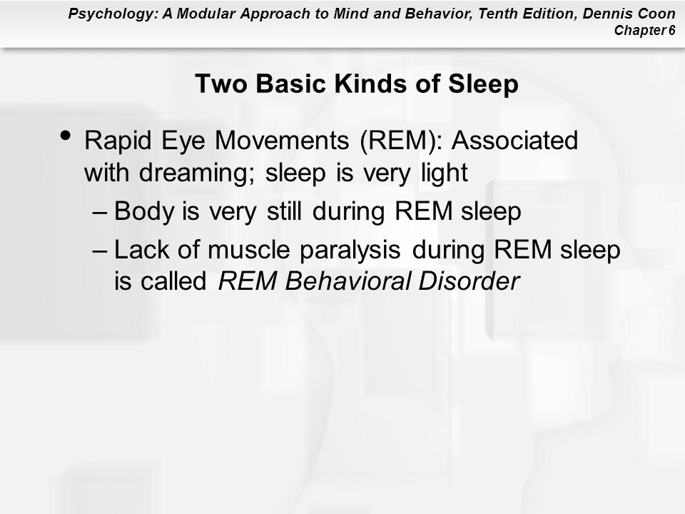 Two Basic Kinds of Sleep