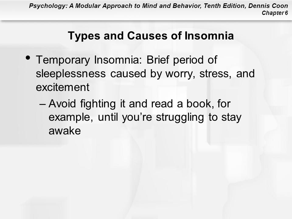 Types and Causes of Insomnia