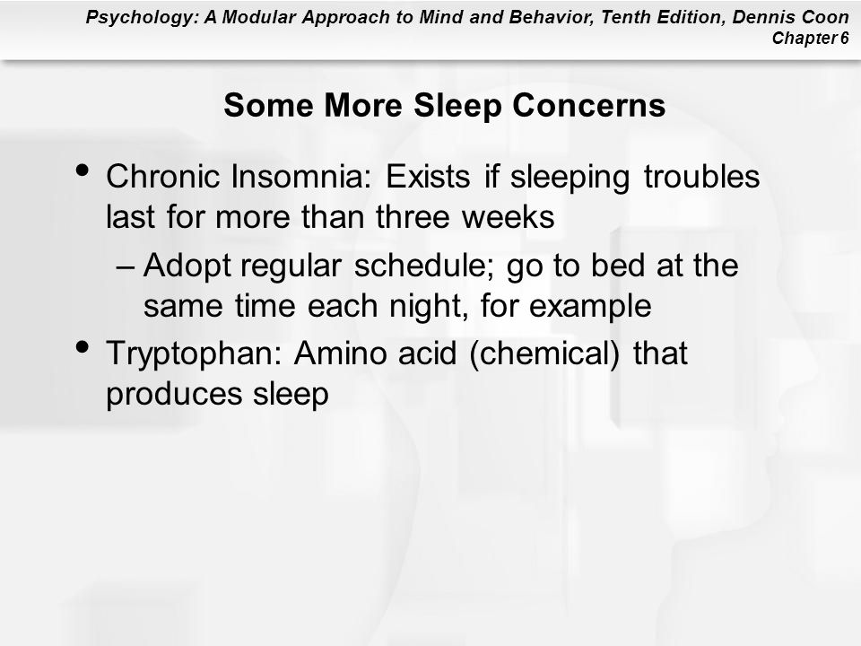 Some More Sleep Concerns