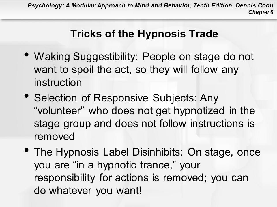Tricks of the Hypnosis Trade