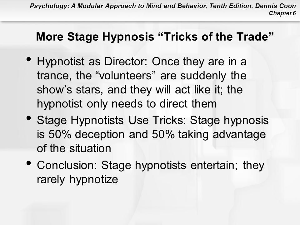 More Stage Hypnosis Tricks of the Trade