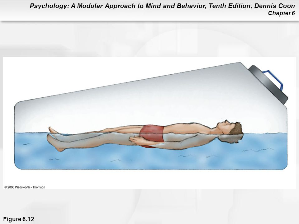 Figure 6. 12 A sensory isolation chamber