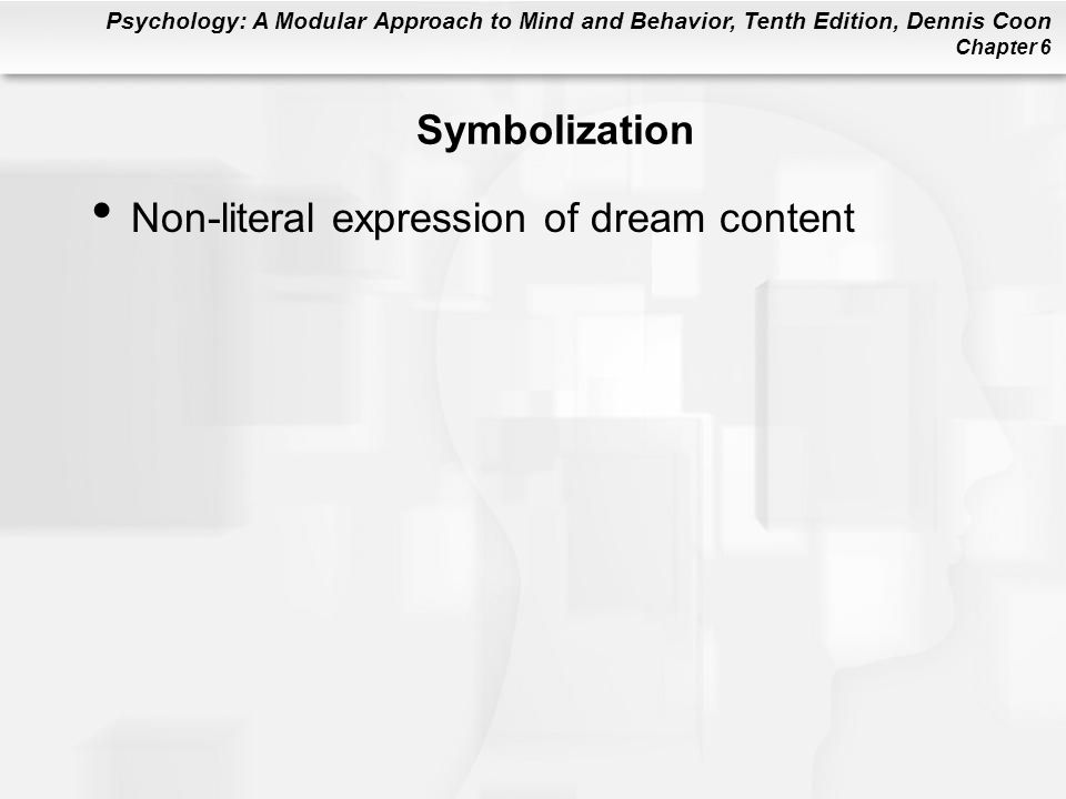 Symbolization Non-literal expression of dream content