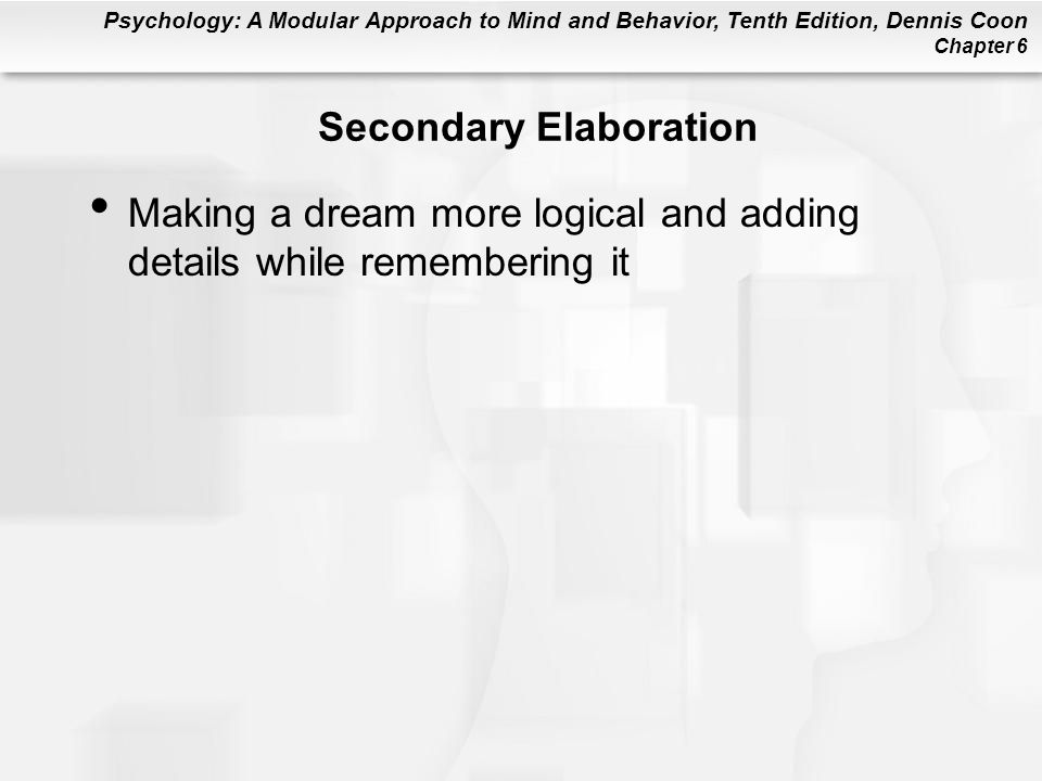 Secondary Elaboration