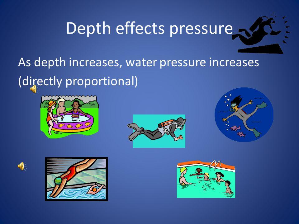 Depth effects pressure