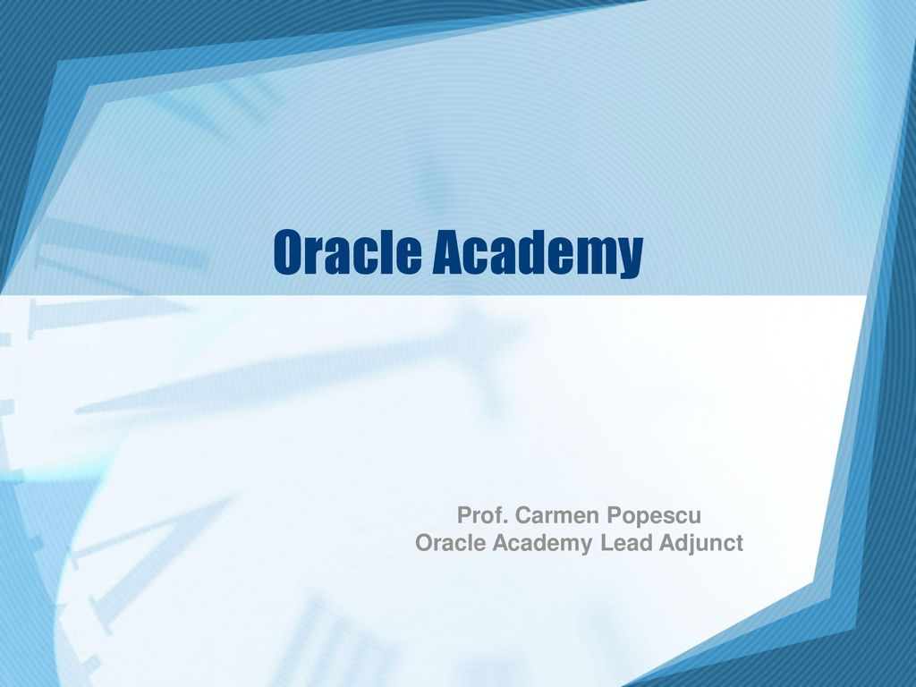 Oracle Academy Lead Adjunct