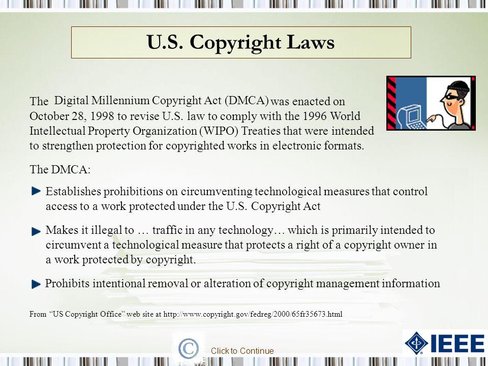 Digital Millennium Copyright Act (DMCA)