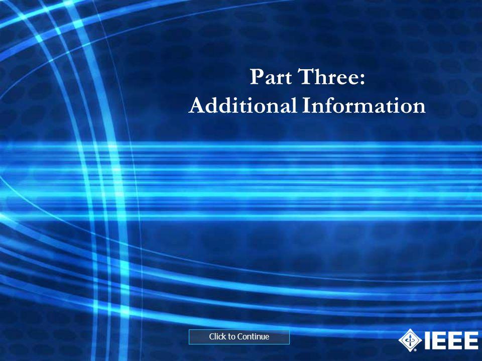 Part Three: Additional Information