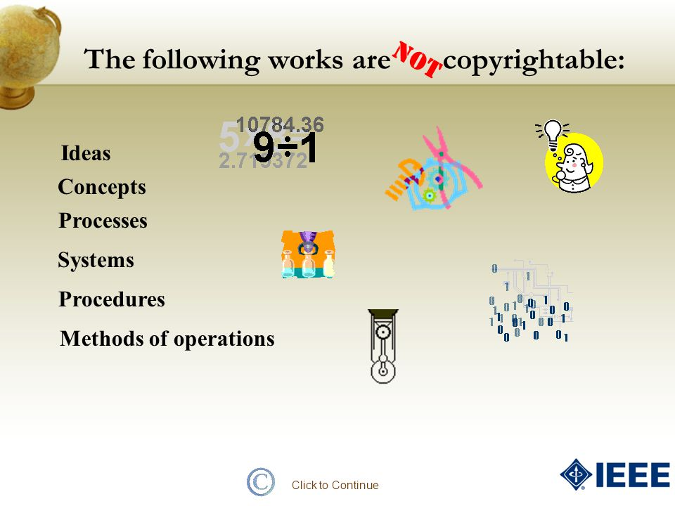The following works are copyrightable: