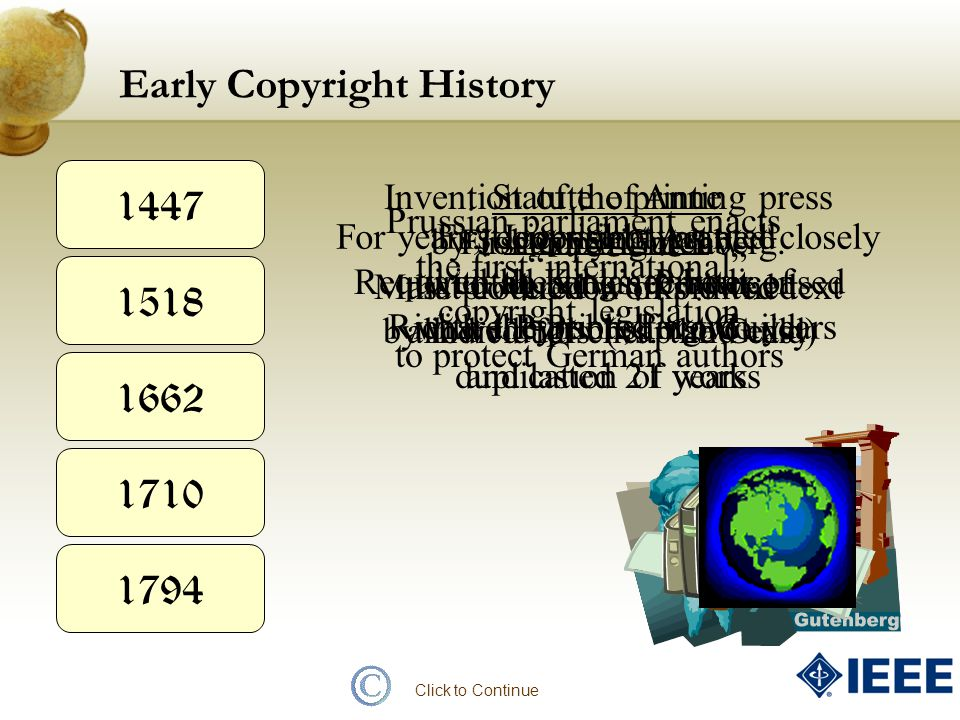 Early Copyright History